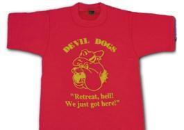Devil Dogs T-Shirt -With Free USMC Lapel Pin