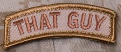 That Guy Tab Patch, (Desert Tan)