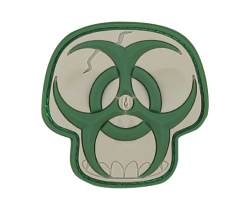 BIOHAZARD SKULL PVC VELCRO PATCH IN ARID
