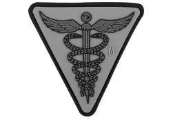 CADUCEUS PVC VELCRO PATCH IN SWAT