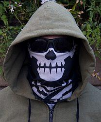 Skull Mask Multi-Wrap - Black